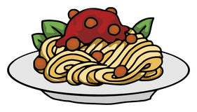 Pasta spaghetti meatballs Royalty Free Stock Photography