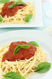 Pasta and Spaghetti Sauce Royalty Free Stock Images
