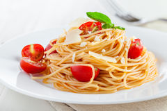 Pasta, spaghetti. Spaghetti, pasta with tomato sauce Stock Photography