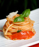 Pasta / Spaghetti with tomato sauce Stock Photography