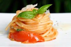 Pasta / Spaghetti with tomato sauce Stock Image