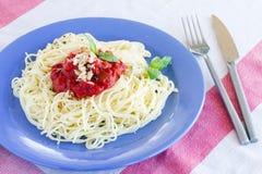 Pasta spaghetti with tomato sauce Stock Image