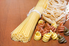 Pasta spaghetti various assortment Stock Photo
