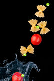 Pasta Splashing In Water Royalty Free Stock Images