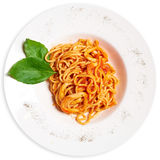 Pasta with squid Royalty Free Stock Images