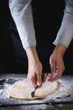 Pasta srotolata per pasta immagine stock