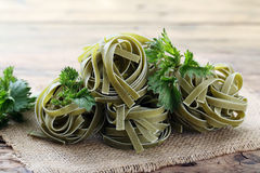 Pasta with stinging nettles Royalty Free Stock Photography