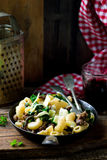 Pasta with swiss chard Stock Images