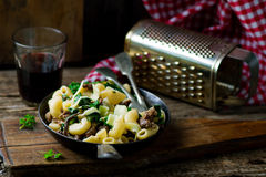 Pasta with swiss chard Royalty Free Stock Photos