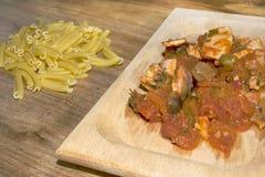 Pasta with swordfish Royalty Free Stock Photography