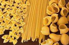 Pasta on table Royalty Free Stock Photo