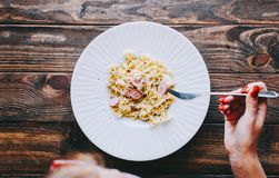 Pasta On Table royalty free stock image