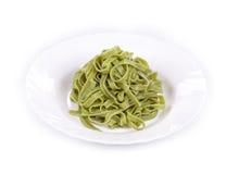 Pasta tagliatelle as haute cuisine. Stock Image