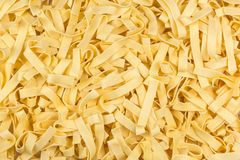 Pasta tagliatelle with egg Royalty Free Stock Image
