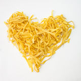 Pasta tagliatelle heart shape Stock Photography