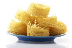 Pasta (tagliolini) Royalty Free Stock Photo