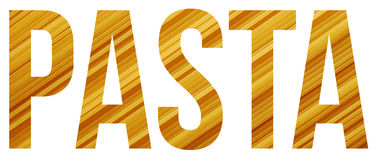 Pasta. Text banner sample with copyspace Royalty Free Stock Images