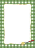 Pasta-themed grön ram Royaltyfri Bild