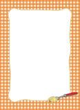 Pasta-themed orange ram Arkivfoto