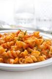 Pasta with tomao sauce Stock Photos