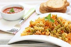 Pasta with tomato Stock Photo