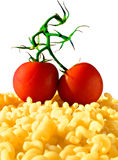 Pasta and tomato Royalty Free Stock Images