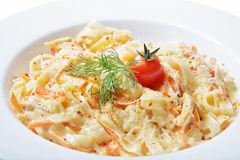 Pasta with tomato Stock Images