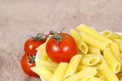 Pasta with tomato Royalty Free Stock Photos