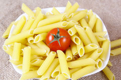 Pasta with tomato Royalty Free Stock Photo