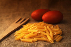 Pasta and tomato Stock Image
