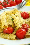 Pasta with tomato and cheese. Stock Photos