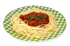 Pasta with tomato sauce Royalty Free Stock Images