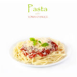 Pasta with tomato sauce. Stock Photography