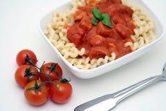 Pasta with tomato sauce Stock Photo