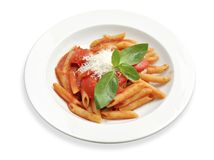 Pasta with tomato sauce Stock Photo