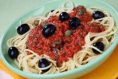 Pasta with tomato sauce Royalty Free Stock Photo