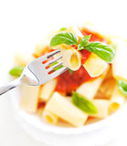 Pasta with tomato sauce Royalty Free Stock Image