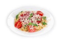 Pasta with tomato sauce Stock Photos