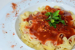 Pasta tomato sauce Stock Photo