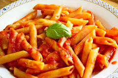Typical italian food image,typical italian food viewing,typical italian food picture,Pasta,tomato sauce,italian food. Italian pasta with tomato sauce Royalty Free Stock Image