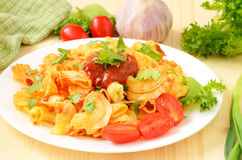 Pasta with tomato sauce Royalty Free Stock Photography