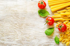 Pasta with tomato and shpinat Royalty Free Stock Images