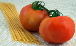 Pasta and Tomatoes Stock Image