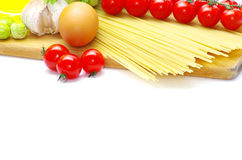 Pasta with tomatoes Royalty Free Stock Photos