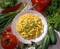 Pasta with tomatoes... Royalty Free Stock Images