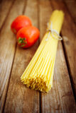 Pasta and tomatoes Stock Photo