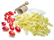 Pasta and tomatoes Stock Photography