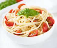 Pasta with tomatoes Royalty Free Stock Photography