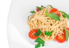 Pasta with tomatoes Royalty Free Stock Images