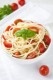 Pasta with tomatoes Stock Photo